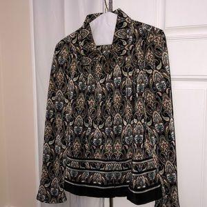 Jacket size Large zipper front